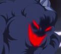 Apariencia malvada de Zeus en el anime