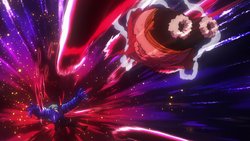 Rufy sconfigge Bullet
