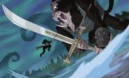 Zoro vs. Mihawk Humandrill