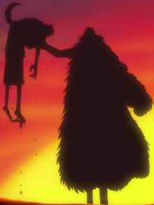 Luffy é derrotado por Crocodile