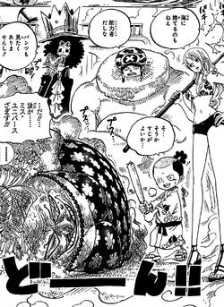 Jora Battue par Brook, Chopper, Nami et Momonosuke