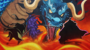 Kaido Vs Red Scabbards