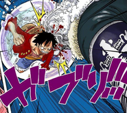 Luffy and Hody Jones