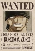 Poster Buronan Roronoa Zoro Saat Ini