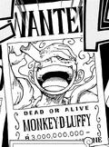 Actual cartel de Luffy