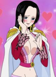 Boa Hancock rougit en pensant à Luffy