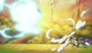 Corto Uses His Guns to Deflect Zoro's Attack