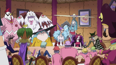 Piratas de Big Mom reunidos