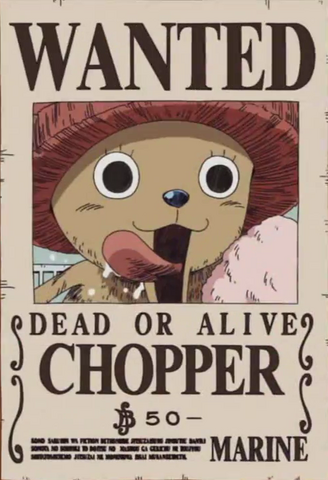 File:Tony Tony Chopper's Wanted Poster.png