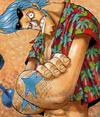 Franky's Pre Timeskip Manga Color Scheme