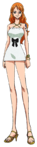 Nami Film Gold White Casino Outfit