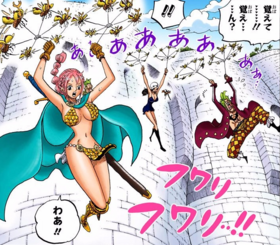 Robin, Rebecca y Bartolomeo volando con escarabajos