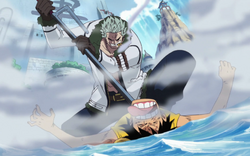 Smoker vs Rufy Marineford