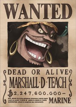 Taglia di Marshall D. Teach