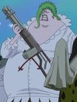 Coribou's Gatling Gun in the Anime