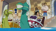 Luffy, Usopp, Nami y los Yagaras