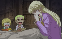 Rosinante and Doflamingo Worry About Their Mother