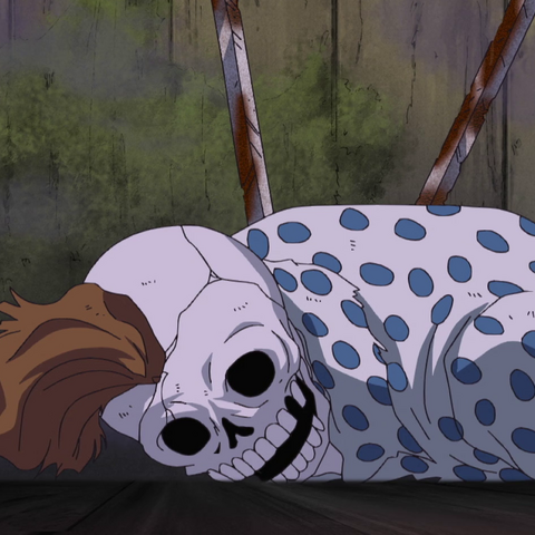 Lo scheletro di Madaisuki nell'anime