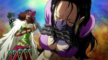 Naomi Drunk captura a Nico Robin