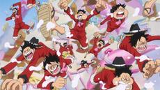Luffy y su equipo llegan a la ceremonia