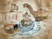 Les pirates de Krieg reviennent de Grand Line