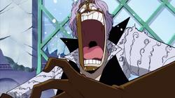 Spandam Shocked By Luffy