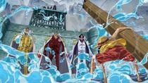 Luffy Faces Three Admirals