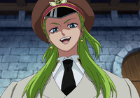 Olive Wearing an Impel Down Guard Uniform