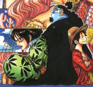 Jinbe's Fish-Man Island Arc Outfit Second Manga Color Scheme