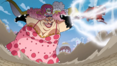Luffy choca con Big Mom