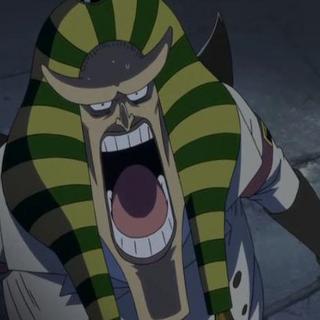 Hannyabal nel ruolo di guardia quando evase Shiki