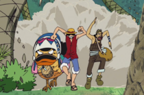 Luffy, Usopp and Karoo Running
