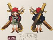 Achtjährige Nami Konzeptzeichnung One Piece Film Z