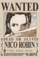 Nico Robin Avis de Recherche Post Dressrosa