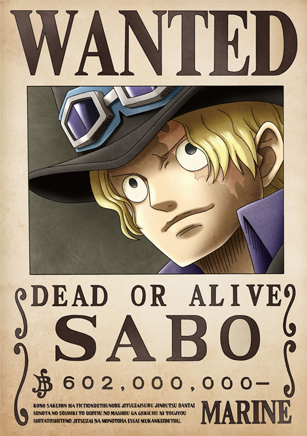 Image - Sabo\'s Wanted Poster.png | One Piece Wiki | FANDOM powered ...
