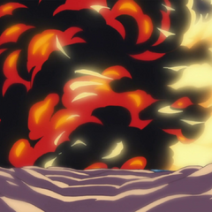Il Magma Magma di Akainu prevale sul Foco Foco di Ace