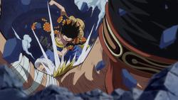 Rufy sconfigge Bellamy di nuovo
