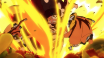 Big Mom Attacks Jinbe and Luffy