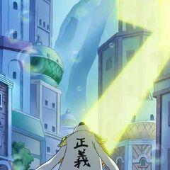 Mit Yata no Kagami wird Apoo verfolgt.