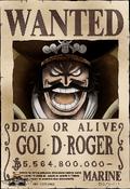 Cartel de recompensa de Gol D. Roger