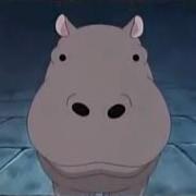 Giant-Mouth Hippo Portrait