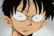Luffy molesto