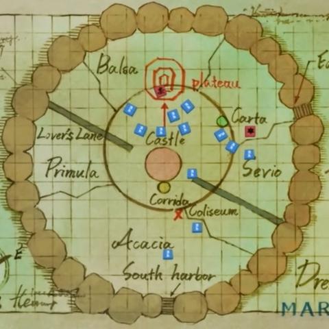 La mappa di Dressrosa
