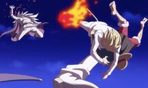 Sanji salva a Luffy de Raisin