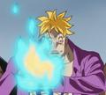 Marco crée des flammes