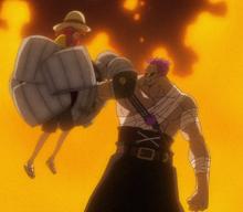 Zephyr derrota a Luffy