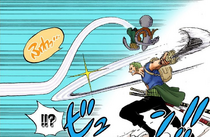 Carrot Floats Over Zoro