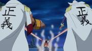 Luffy bat Bonam et Zappa