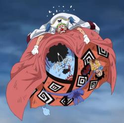 Bagy salva Jinbe e Rufy