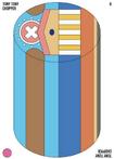 Chopper Cylindrical Candy